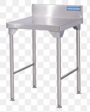 Table - Table Stainless Steel Brushed Metal Bar Stool PNG