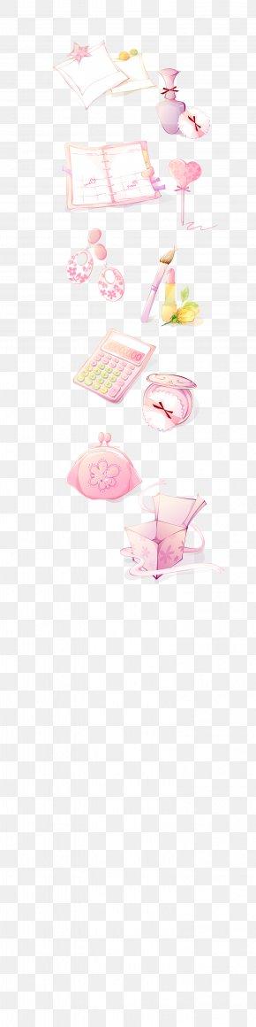 Vector Women Supplies - Paper Pink Petal Pattern PNG