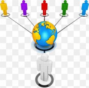 Globe World - Line Diagram Computer Network World Globe PNG