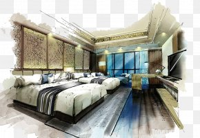 The Hotel Interior Design - Marker Pen Bedroom Interior Design Services House Painter And Decorator Living Room PNG
