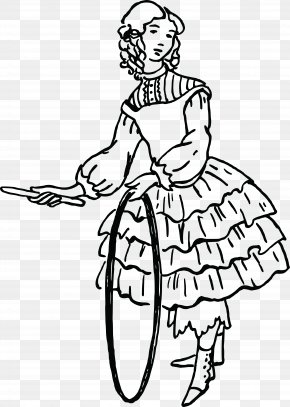 Victorian Fashion Leg - Line Art White Finger Coloring Book Arm PNG