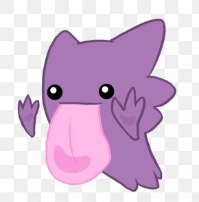 Tongue Purple Monster - Pikachu Haunter Drawing Pokxe9mon Art PNG