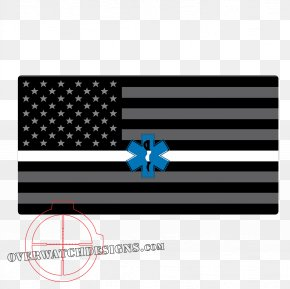 United States - Flag Of The United States Decal Thin Blue Line Sticker PNG