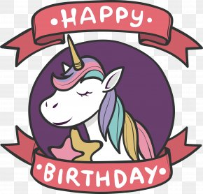 Unicorn Birthday Card - Unicorn Euclidean Vector Brazil Flag Birthday PNG