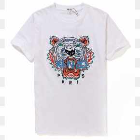 T-shirt - T-shirt Tiger Kenzo Sweater White PNG