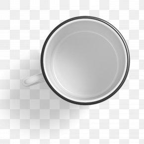 White Cup - White Circle Ceramic PNG
