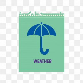 Green Notes Umbrella Weather Weather Forecast - Umbrella Icon PNG