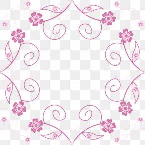 Vector Border Pink Flower Box - Flower Pink Euclidean Vector Computer File PNG