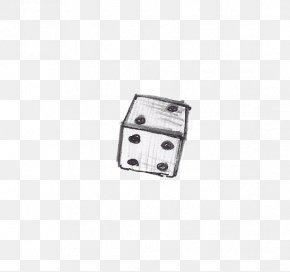 Playing Dice 2 - White Black Pattern PNG