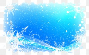 Ice And Snow Border - Snowflake Pattern PNG