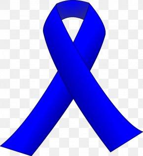 Blue Ribbon Clipart - Black Ribbon Awareness Ribbon Clip Art PNG