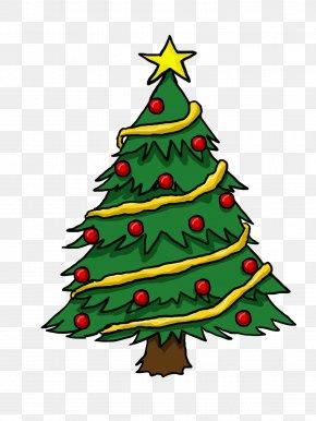 Cartoon Christmas Tree - Christmas Tree Gift Clip Art PNG