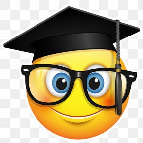 Graduation - Graduation Ceremony Emoji Square Academic Cap Clip Art PNG