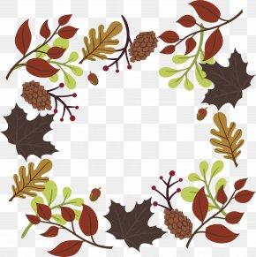 Autumn Leaves Decoration Box - Autumn Deciduous Clip Art PNG