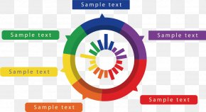 Color Circular Diagram PPT Material - Bar Chart Infographic Pie Chart PNG