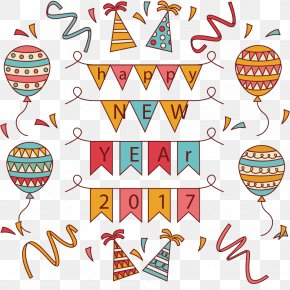 New Year Party - Balloon New Year Party Clip Art PNG