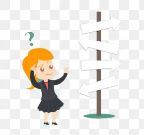 Before Signs Of Confused Business Woman - Business Organization Email PNG
