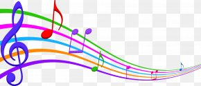 Colored Cartoon Musical Note Stave PNG