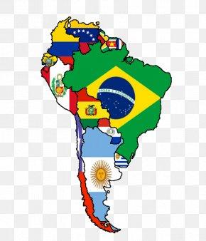Flags Of South America - Flags Of South America United States Latin America Map PNG