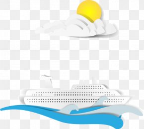 Creative Paper-cut Collage Tourism - Tourism Cruise Ship Collage PNG