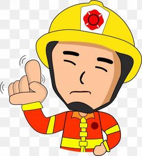 Serious Firefighter - Firefighter Cartoon Illustration PNG