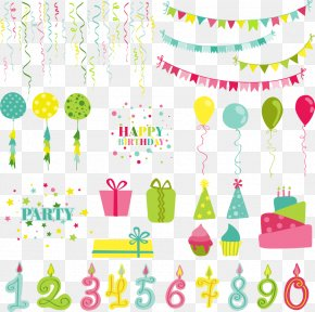 Vector Birthday Gift Boxes And Digital - Wedding Invitation Party Birthday Greeting Card PNG
