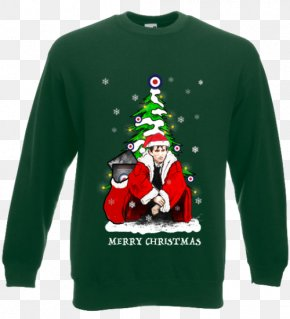 T-shirt - Long-sleeved T-shirt Santa Claus Hoodie Christmas Ornament PNG