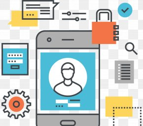 User Interface - Mobile App Development Mobile Phones Flat Design PNG