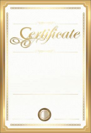 Gold Certificate Template Clip Art Image - Paper Academic Certificate Gold Certificate Clip Art PNG