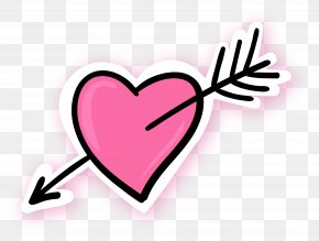 Pink Earth Pattern - Arrow Through The Heart Pink Blue PNG
