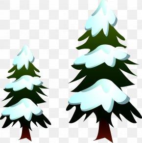 Christmas Tree - Snowman Winter Illustration PNG