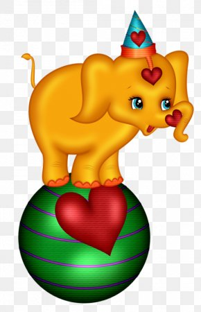 Yellow Cute Baby Elephant - Elephant PNG