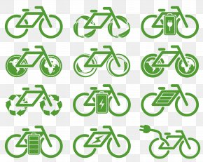 Eco Bike Icon Design - Icon Design Environmental Protection Icon PNG