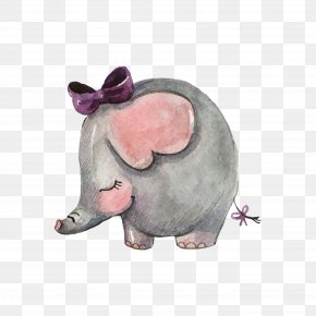 Drawing Baby Elephant - Wedding Invitation Asian Elephant Mothers Day PNG
