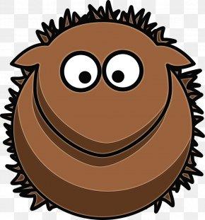 Muffin Erinaceidae - Cartoon Brown Clip Art Hedgehog Mouth PNG