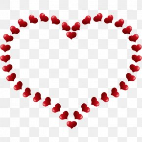 Big Red Heart Picture - Heart Valentine's Day Clip Art PNG