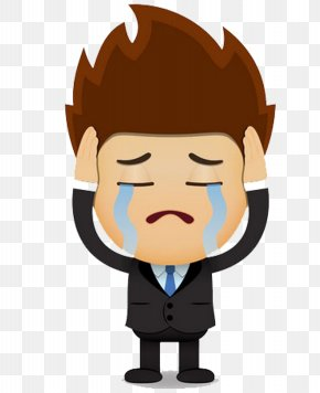 Sad Man - Cartoon Royalty-free Clip Art PNG