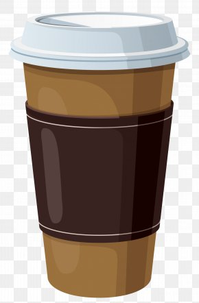 Coffee In Plastic Cup Clipart - Coffee Cup Cafe Clip Art PNG