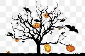 Halloween Pumpkin Ghost Tree Knot - Halloween Pumpkin Ghost Tree PNG