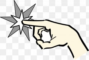 Hand Pointing Clipart - Pointing Index Finger Clip Art PNG