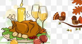 Thanksgiving Turkey - Turkey Meat Thanksgiving Dinner Cartoon PNG