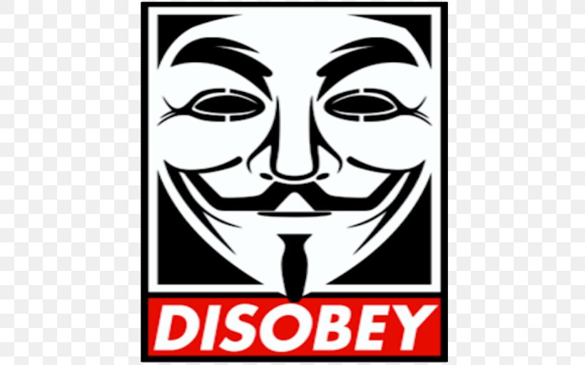 Anonymous Guy Fawkes Mask V For Vendetta Protest Art, PNG, 512x512px, Anonymous, Advertising, Area, Art, Artist Download Free