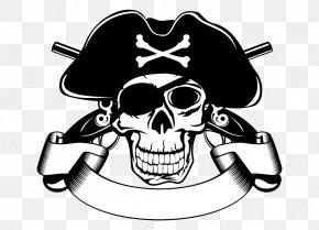 Pirate Skull Vector - Piracy Skull Stock Illustration Clip Art PNG