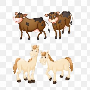 Cartoon Cow - Texas Longhorn Hereford Cattle Royalty-free Illustration PNG