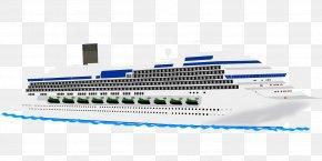 Cruise Ships - Cruise Ship Cruising Boat Clip Art PNG