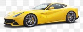 Yellow Ferrari F12berlinetta Car - Ferrari F12 Sports Car Ferrari California PNG