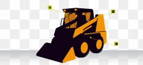 Steer Silhouette Skid Steer - Measuring Scales Loader Vehicle Forklift Machine PNG