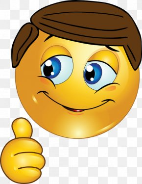 Thumbs Up Emoticon - Smiley Thumb Signal Emoticon Clip Art PNG