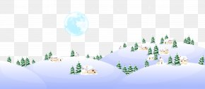 Cartoon Snow Background - Icon PNG