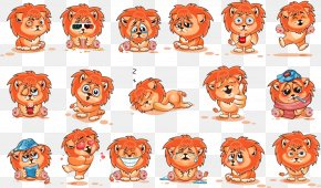 Vector Cartoon Lion - Lion Cartoon PNG